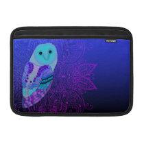 Swirly Barn Owl MacBook Air Sleeve