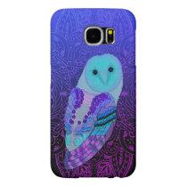 Swirly Barn Owl Samsung Galaxy S6 Case