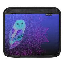 Swirly Barn Owl Sleeve For iPads