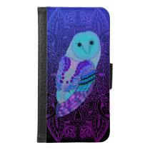 Swirly Barn Owl Wallet Phone Case For Samsung Galaxy S6