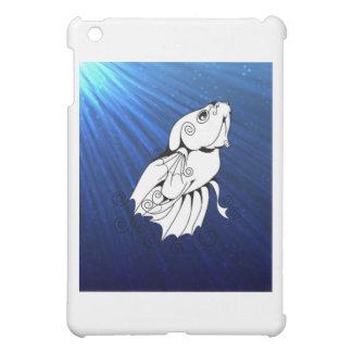 Swirly Betta on Blue Case For The iPad Mini