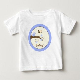 Swirly Bird (Blue) Custom Infant T-shirt