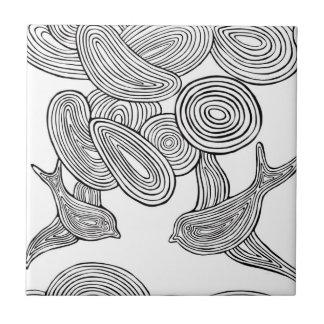 """""""Swirly Bird"""" Ceramic Tile"""