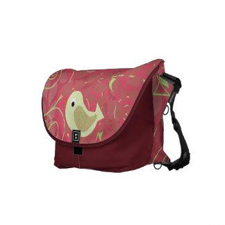 Swirly Bird  Customized Messenger  Bag Courier Bags