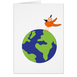 Swirly Bird Saves the World for Sustainable Earth Card