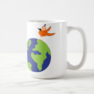 Swirly Bird Saves the World for Sustainable Earth Coffee Mug