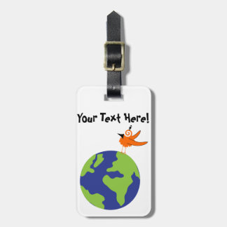 Swirly Bird Saves the World for Sustainable Earth Tag For Luggage
