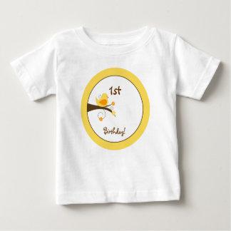Swirly Bird (Yellow) Custom Infant T-shirt