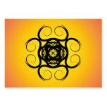 Swirly Black Kaleidoscope Mandala Large Business Cards (Pack Of 100)