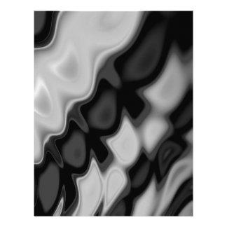 Swirly Black&White Abstract Letterhead