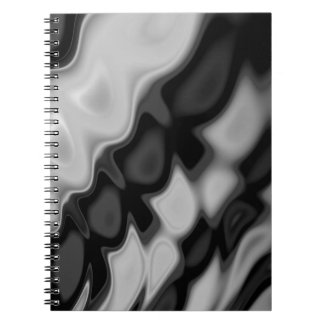 Swirly Black&White Abstract Notebook