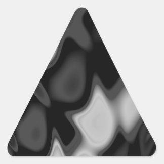 Swirly Black&White Abstract Triangle Sticker