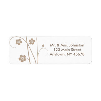 Swirly Blooms Address Label