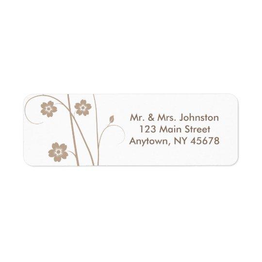 Swirly Blooms Address Label