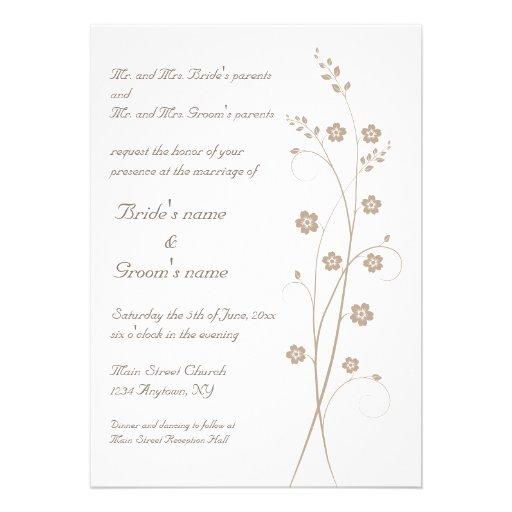 Swirly Blooms Wedding Invitation