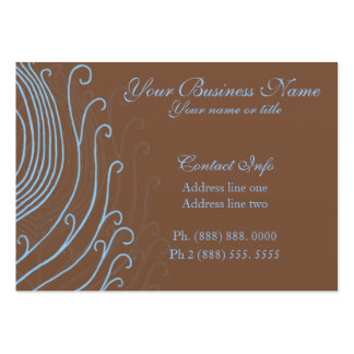 Swirly Blue Peacock Feather Business Cards