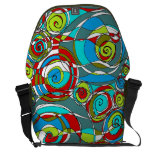 Swirly Bubbles  Blue Green Red Messenger Bags