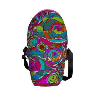 Swirly Bubbles Pink Courier Bags