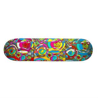 Swirly Bubbles Triple Shot Abstract Skateboard