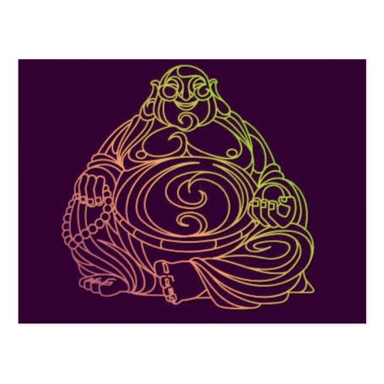 Swirly Buddha Postcard