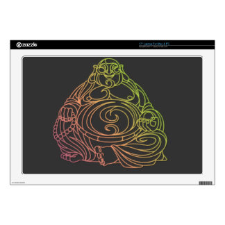 "Swirly Buddha Decal For 17"" Laptop"