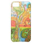 Swirly caja psicodélica colorida del iPhone 5 del