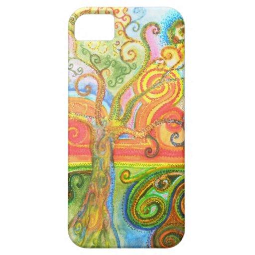 Swirly caja psicodélica colorida del iPhone 5 del  iPhone 5 Protector