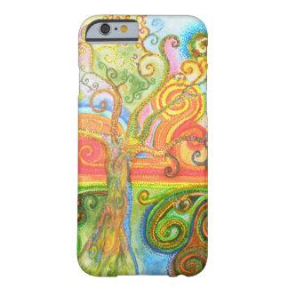 Swirly caja psicodélica colorida del iPhone 6 del Funda De iPhone 6 Barely There