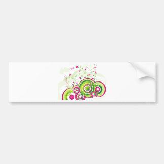 Swirly Car Bumper Sticker