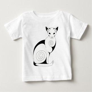 Swirly Cat Baby T-Shirt