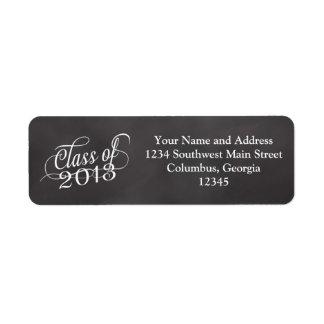 Swirly Chalkboard Class of 2013 Return Address Label