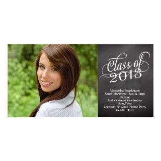 Swirly Chalkboard Class of 2013 Photo Card