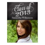 Swirly Chalkboard Class of 2013 Post Card