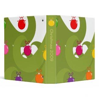 Swirly Christmas binder