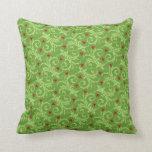 Swirly Christmas Mistletoe Pillows