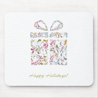 Swirly Christmas Present Mousepad