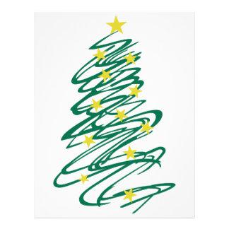 Swirly Christmas Tree Letterhead