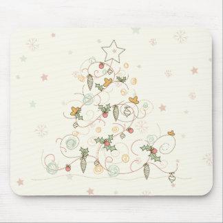 Swirly Christmas Tree Mousepad