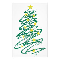 Swirly Christmas Tree Stationery
