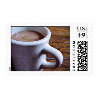 SWIRLY COFFEE USPS FIRST-CLASS STAMP