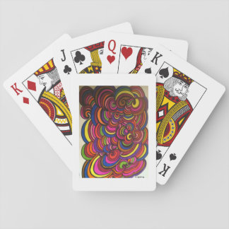 Swirly, colorful playing cards! playing cards