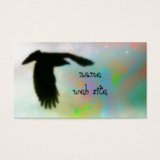 Swirly Colors and Crow Business Card