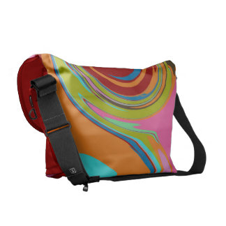 Swirly Colors Courier Bag