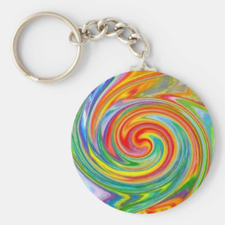 Swirly Colors Keychain