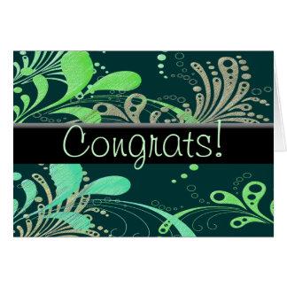 ¡Swirly Congrats! Tarjeta De Felicitación