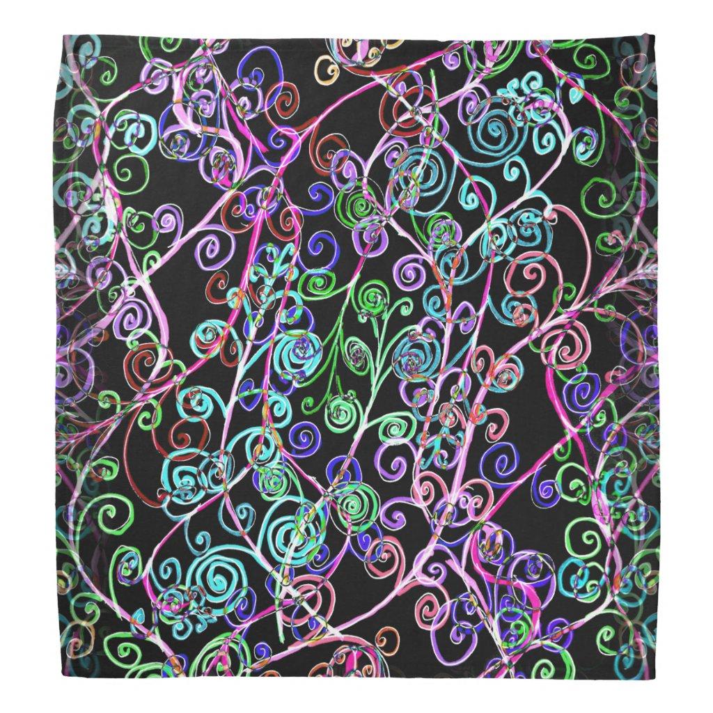 Swirly Design on Bandana