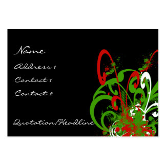 Swirly Distressed Paint Splats - C... - Customized Large Business Card