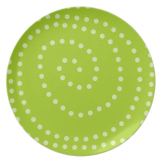 Swirly Dots in Lime Plate