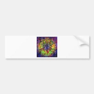 Swirly Face Bumper Sticker