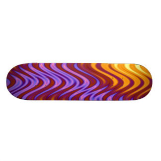 Swirly Fire Pattern Skateboard